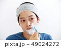美容 髭剃り 男性の写真 49024272