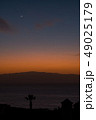 beautiful view on la gomera island and sky while sunset 49025179