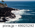 beautiful view on blue ocean water and rocky coast line 49025292