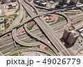 Aerial view of road junction in Dubai 49026779