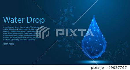 Water Drop light lines, low poly Aqua Eco theme  49027767