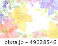 花 コピースペース 文字スペースのイラスト 49028546