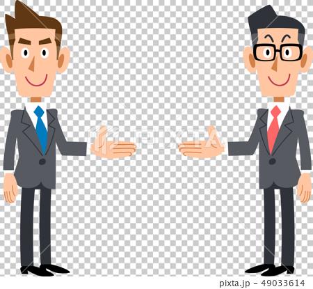 両側で紹介するビジネスマンのセット 49033614