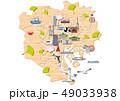 木材で形どった東京23区地図 観光マップ 49033938