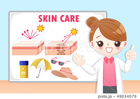 doctor woman teach sunscreen 49034079