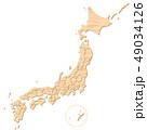 木材で形どった日本地図 都道府県 49034126