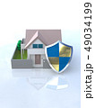 CG 3D イラスト デザイン 立体 セキュリティ 楯 ガード 家 住宅 防犯 防災 警備 安全  49034199