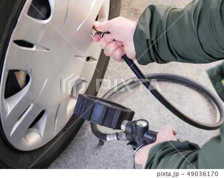 タイヤの空気圧チェック 49036170