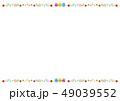 フレーム 花 イースターのイラスト 49039552