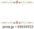 フレーム 花 イースターのイラスト 49039553