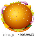 ハンバーガー チーズバーガー 食のイラスト 49039983