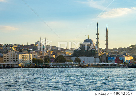 Istanbul cityscape skyline in Istanbul city, 49042617