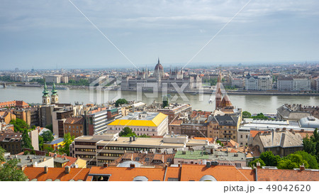Budapest Parliament Building with view of Danube 49042620