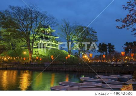 Cherry Blossom Festival in Takada Castle at night 49042630