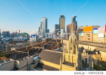 Nagoya cityscape skyline in Japan 49042638