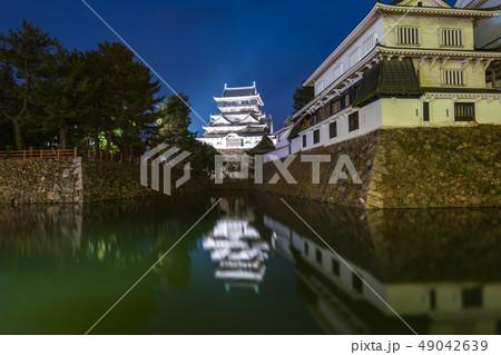 Night view of Kokura Castle at night in Fukuoka, 49042639