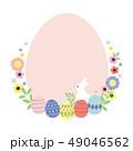 フレーム 花 イースターのイラスト 49046562