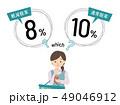 消費税率に困惑する女性 49046912