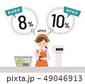 消費税率に困惑する女性 49046913