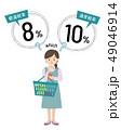 消費税率に困惑する女性 49046914