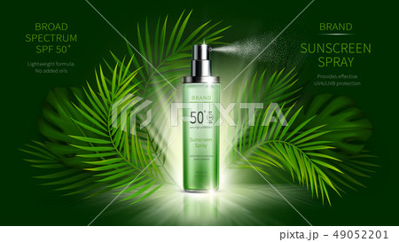 Sun protection cosmetic vector realistic ads poster 49052201