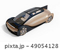 白バックにメタリックゴールド色の自動運転電気自動車高級サルーンのイメージ 49054128