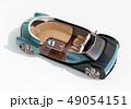 白バックに自動運転電気自動車のカットモデルイメージ。前列シート後ろ向きに。 49054151