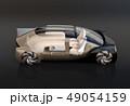 黒バックにゴールド色の自動運転高級サルーンのイメージ。インテリア画像合成効果 49054159