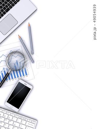 ビジネスツールと虫眼鏡 49054939