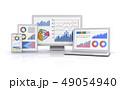 ビジネスチャートを表示する情報端末 49054940