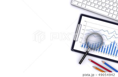 ビジネスツールと虫眼鏡 49054942