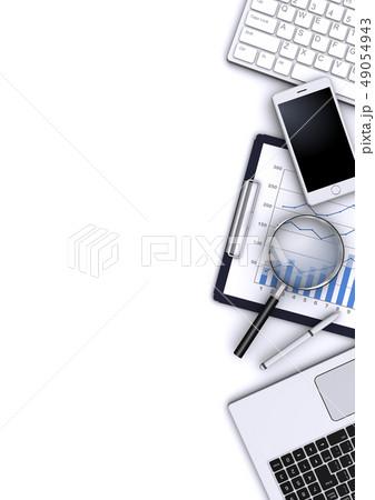 ビジネスツールと虫眼鏡 49054943