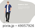 人々 人物 キャラクターのイラスト 49057926