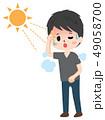 熱中症 脱水症状 日射病のイラスト 49058700