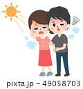熱中症 日射病 ベクターのイラスト 49058703