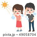 熱中症 日射病 ベクターのイラスト 49058704