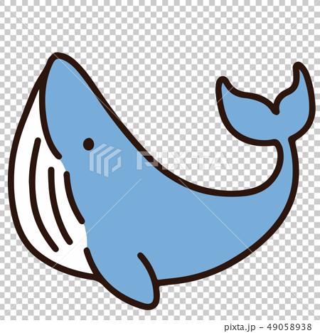 簡單和可愛的藍鯨圖和主線 49058938