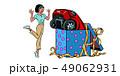 車 自動車 コミックのイラスト 49062931