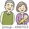 おじいさんとおばあさんと孫 49067914