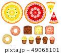 お菓子のイラスト素材 49068101