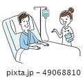 ベクター 入院 点滴のイラスト 49068810