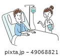 ベクター 入院 点滴のイラスト 49068821