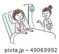 ベクター 入院 点滴のイラスト 49069992