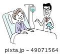 入院患者と医師 49071564