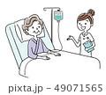 入院患者と看護師 49071565