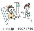 ベクター 入院 点滴のイラスト 49071749