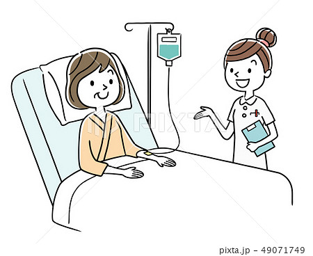 入院患者と看護師 49071749