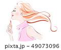 春メイク ピンクのシャツ 49073096