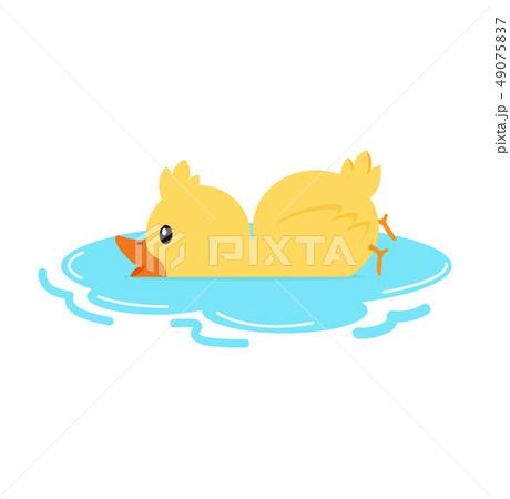 Cute yellow duck character set 49075837