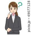 スーツ 女性 就活 アニメタッチ 49077128